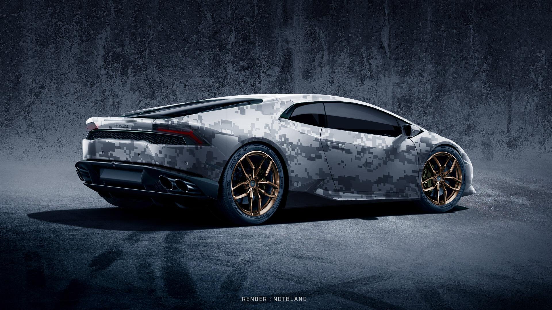 New Lamborghini Huracan Wrapped Camo