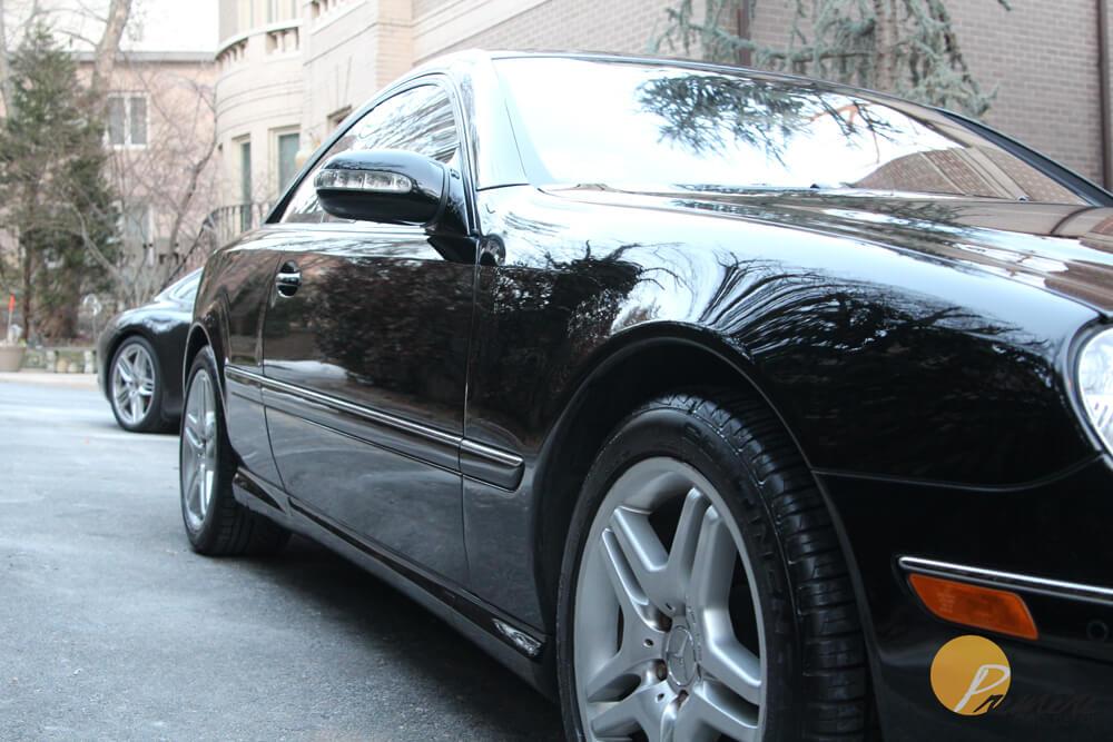 Black 2006 Mercedes Benz CL500 Auto Detail