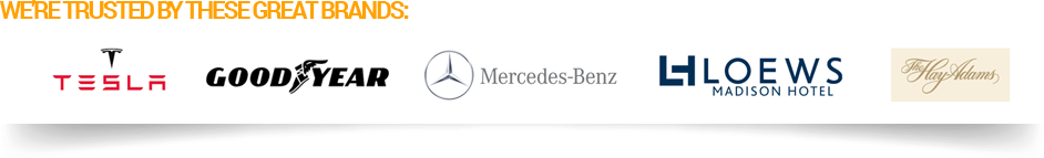 Trusted By Mercedes Benz USA, Tesla, Loews Hotels, Hay Adams Hotel